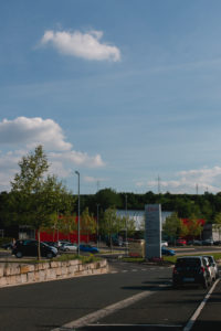 Outlet center in Rottendorf near Würzburg in the times of Corona