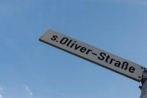 Street sign s.Oliver-Straße in Rottendorf near Würzburg
