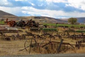 USA Roadtrip, Landwirtschaft, Aussicht, Mittlerer Westen, alte landwirtschaftliche Geräte