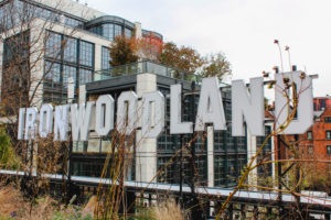 Sightseeing an High Line in New York Manhattan im Herbst / Ironwoodland