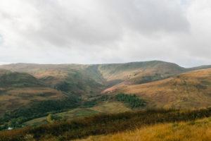 Glen Coe footpath valley in Scotland