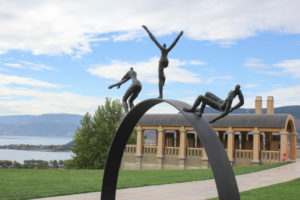 Sculpture at Mission Hill Winery in West Kelowna, Canada