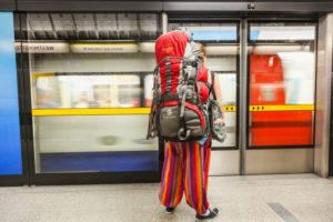 England, London, Underground, Passenger on Platform