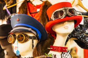 England, London, Shoreditch, Brick Lane, Vintage Clothing Stall Display