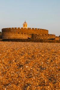 England, Kent, Deal, Beach and Deal Castle