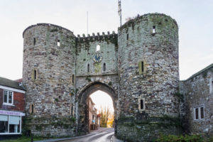 England, East Sussex, Rye, The Medieval Landgate dated 1330
