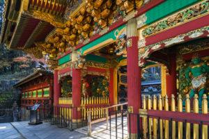 Japan, Honshu, Tochigi Prefecture, Nikko, Rinnoji Temple, Entrance Gate to Taiyuin Mausoleum