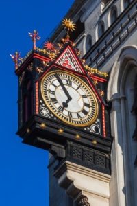 England, London, Holborn, The Strand, The Royal Courts of Justice, The Clock