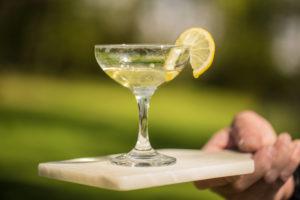Glass of homemade Limoncello
