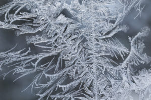 Macro capture of Ice Crystals In Window Glass