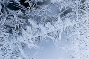 Ice Crystals In Window Glass
