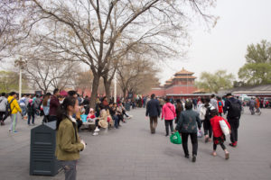 People going to The Forbidden City, Beijing, China