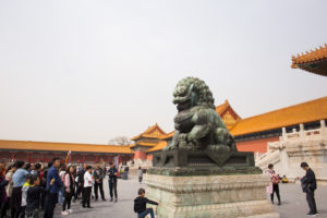 Guardian Lion Statue, Forbidden City, Beijing, China