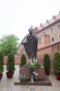 Statue of John Paul II, Wawel, Krakow, Poland