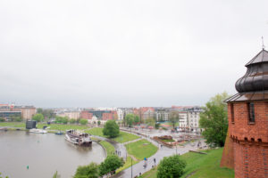 View from The Wawel Hill to The Vistula River, Krakow, Poland