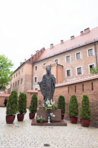 Statue of John Paul II, Wawel hill, Krakow, Poland