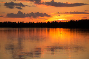 Beautiful Sunset Evening by The Lake, Finland