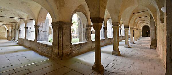 Germany, Saxony-Anhalt, school gateway, Naumburg, former Cistercian abbey and state school Pforta, cloister
