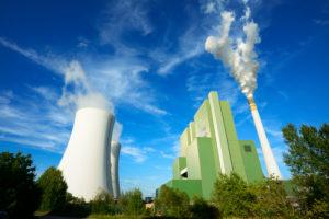 Germany, Saxony-Anhalt, Schkopau, brown coal power station