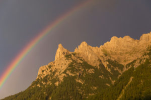 Rainbow over the Karwendel mountains