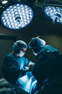Surgeons during a surgery