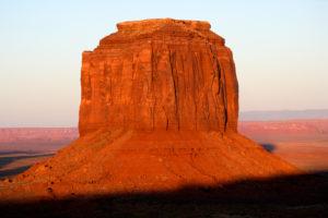 USA, Merrick Butte at dusk