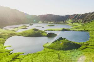 Portugal, Azores, Scenic view of†Caldeirao