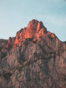 Spain, Cantabria, Mountain peak in Picos de Europa