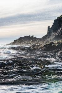 UK, South Georgia and South Sandwich Islands, Rugged coastline of Prion Island