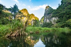 Vietnam, Limestone mountains at†Trang†An Scenic Landscape Complex