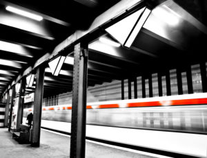 Hamburg, U-Bahnstation, Klosterstern, U-Bahn-Einfahrt