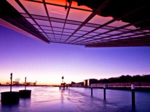Hamburg, Hafen, Dockland, Sonnenuntergang, Elbe