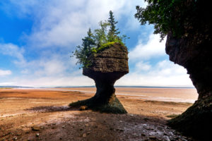 Canada, New Brunswick, Hopewell Rocks