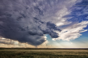 USA, South Dakota, Badlands National Park, Wolkengebilde