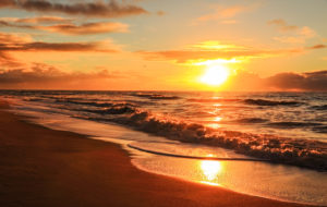 The North Sea, island, Sylt, sundown
