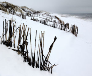 The North Sea, island, Sylt, winter scene