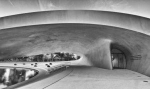 Wolfsburg, Autostadt, Porsche-Pavillon, Architektur, s/w