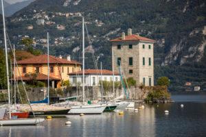 Am Hafen von Pescallo in Bellagio, Comersee, Provinz Como, Lombardei, Norditalien, Italien, Südeuropa, Europa