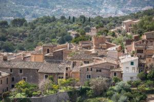 Blick auf Fornalutx, Mallorca, Balearen, Spanien