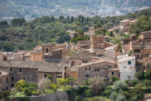 View on Fornalutx, Mallorca, Balearic Islands, Spain