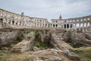 Römisches Amphitheater in Pula, Halbinsel Istrien, Kroatien