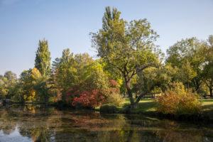 Water park in autumn, 21st district, Vienna, Floridsdorf, Austria