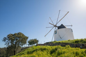 Windmill in Odeceixe, Costa Vicentina, Algarve, Faro district, Portugal
