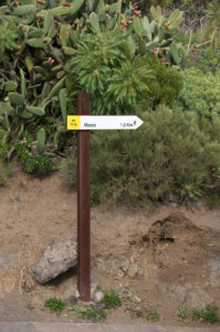 Hiking trail to the mountain village of Masca, Tenerife, Canary Islands, Spain