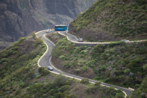 Mountain road to Masca in the Teno Mountains, Tenerife, Canary Islands, Spain