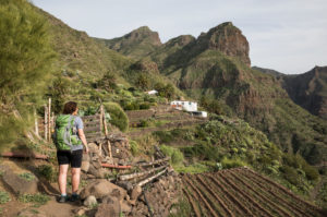 Hike in the Teno Mountains to the mountain village of Masca, Tenerife, Canary Islands, Spain