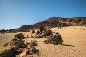 Bimssteinfeld beim Aussichtspunkt Minas de San Jose, Nationalpark El Teide, UNESCO-Welterbe, Teneriffa, Kanarische Inseln, Spanien