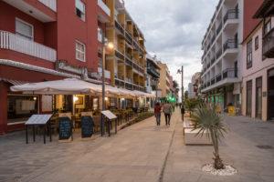 Restaurants in der Calle San Juan in Puerto de la Cruz, Teneriffa, Kanarische Inseln, Spanien