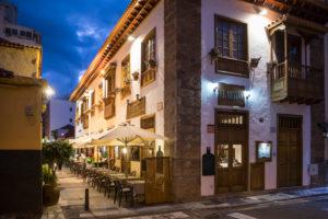 Restaurant in der Calle el Lomo, Puerto de la Cruz, Teneriffa, Kanarische Inseln, Spanien
