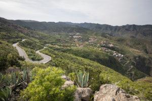 Blick auf das Teno-Gebirge mit der Ortschaft Terra del Trigo, Teneriffa, Kanarische Inseln, Spanien